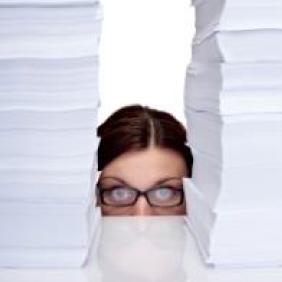 woman paperwork